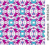 ethnic seamless pattern with...   Shutterstock .eps vector #606816263