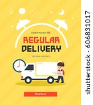 shopping delivery pop up... | Shutterstock .eps vector #606831017