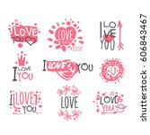 romantic i love you message for ...   Shutterstock .eps vector #606843467
