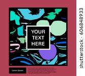 beautiful graphics. modern... | Shutterstock .eps vector #606848933