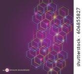hexagonal geometric background. ...