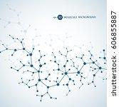 molecules concept of neurons... | Shutterstock .eps vector #606855887