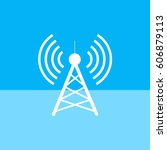 antenna.vector icon. radio... | Shutterstock .eps vector #606879113