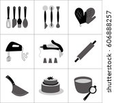 icons  symbols and graphic... | Shutterstock .eps vector #606888257
