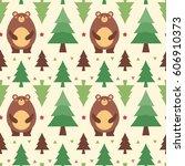 vector illustration seamless... | Shutterstock .eps vector #606910373