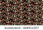 seamless delicate pattern of... | Shutterstock .eps vector #606911327