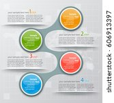vector abstract 3d paper... | Shutterstock .eps vector #606913397
