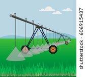 center pivot irrigation. vector ...   Shutterstock .eps vector #606915437