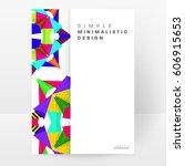 memphis geometric background... | Shutterstock .eps vector #606915653