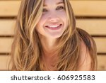 beautiful woman | Shutterstock . vector #606925583