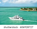 cruise touristic boats or yacht ... | Shutterstock . vector #606928727