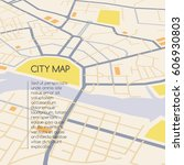 perspective city map  abstract... | Shutterstock .eps vector #606930803
