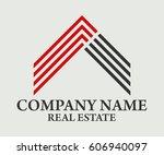 real estate  building ... | Shutterstock .eps vector #606940097