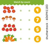 counting game for preschool... | Shutterstock .eps vector #606941183