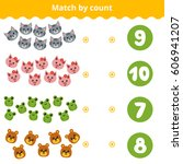 counting game for preschool...   Shutterstock .eps vector #606941207