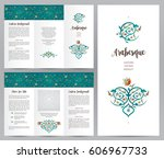 ornate vintage booklet with... | Shutterstock .eps vector #606967733