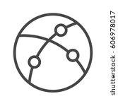 internet thin line vector icon. ...   Shutterstock .eps vector #606978017