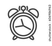 alarm clock thin line vector... | Shutterstock .eps vector #606986963