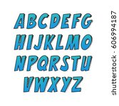 creative font. vector alphabet...