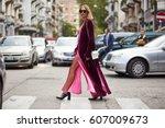 milan  italy   september 21 ... | Shutterstock . vector #607009673