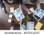 group of business people... | Shutterstock . vector #607013237