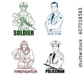 emergency rescue services  ...   Shutterstock .eps vector #607018583
