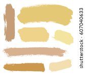 vector set of grunge brush... | Shutterstock .eps vector #607040633