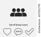 group icon. one of set web icons