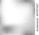 grunge halftone background.... | Shutterstock .eps vector #607057607