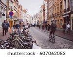 brugge  old town  belgium  ... | Shutterstock . vector #607062083
