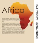 abstract map of africa in... | Shutterstock .eps vector #607063193