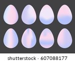 collection of happy easter eggs ...   Shutterstock .eps vector #607088177