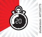 stopwatch twenty minute | Shutterstock .eps vector #607110773