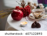 magic red apple is not a... | Shutterstock . vector #607122893