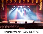 the stage of the theater... | Shutterstock . vector #607130873