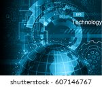 abstract technology background | Shutterstock .eps vector #607146767