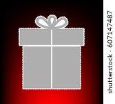 gift sign. postage stam or old...
