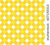 seamless yellow cross pattern | Shutterstock .eps vector #607150313