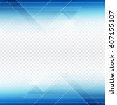 abstract blue polygonal shape...   Shutterstock .eps vector #607155107