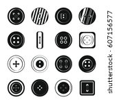 clothes button icons set.... | Shutterstock .eps vector #607156577