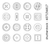 clothes button icons set.... | Shutterstock .eps vector #607156817