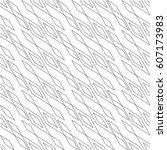 seamless geometric pattern.... | Shutterstock .eps vector #607173983