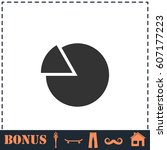 chart icon flat. simple...