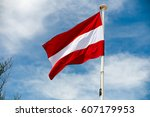 Flag of austria in the wind