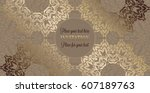 luxury ornament  lace in... | Shutterstock .eps vector #607189763