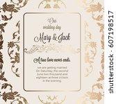 antique baroque luxury wedding... | Shutterstock .eps vector #607198517