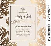 antique baroque luxury wedding... | Shutterstock .eps vector #607198847