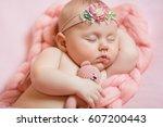 newborn | Shutterstock . vector #607200443