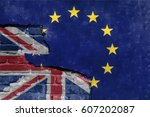 brexit blue european union eu... | Shutterstock . vector #607202087