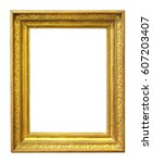 gilded wooden frame for a... | Shutterstock . vector #607203407